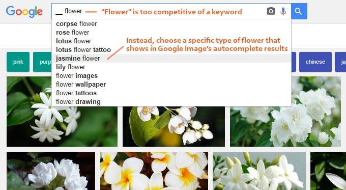 google-image-keywords