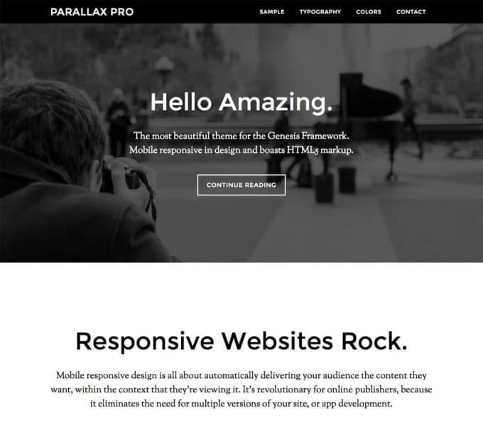 Parallax-Pro-StudioPress-Theme