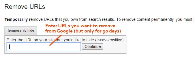 Removed URLs