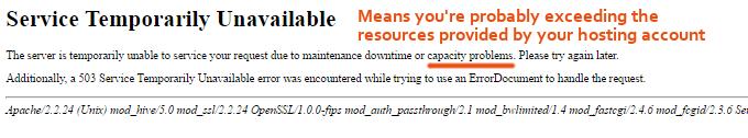 Service Temporarily Unavailable