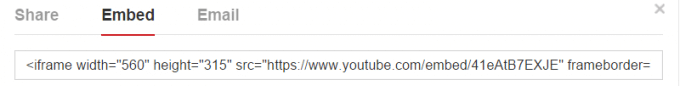 Embed a YouTube Video