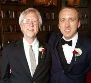 Dad And I At Brother's Wedding
