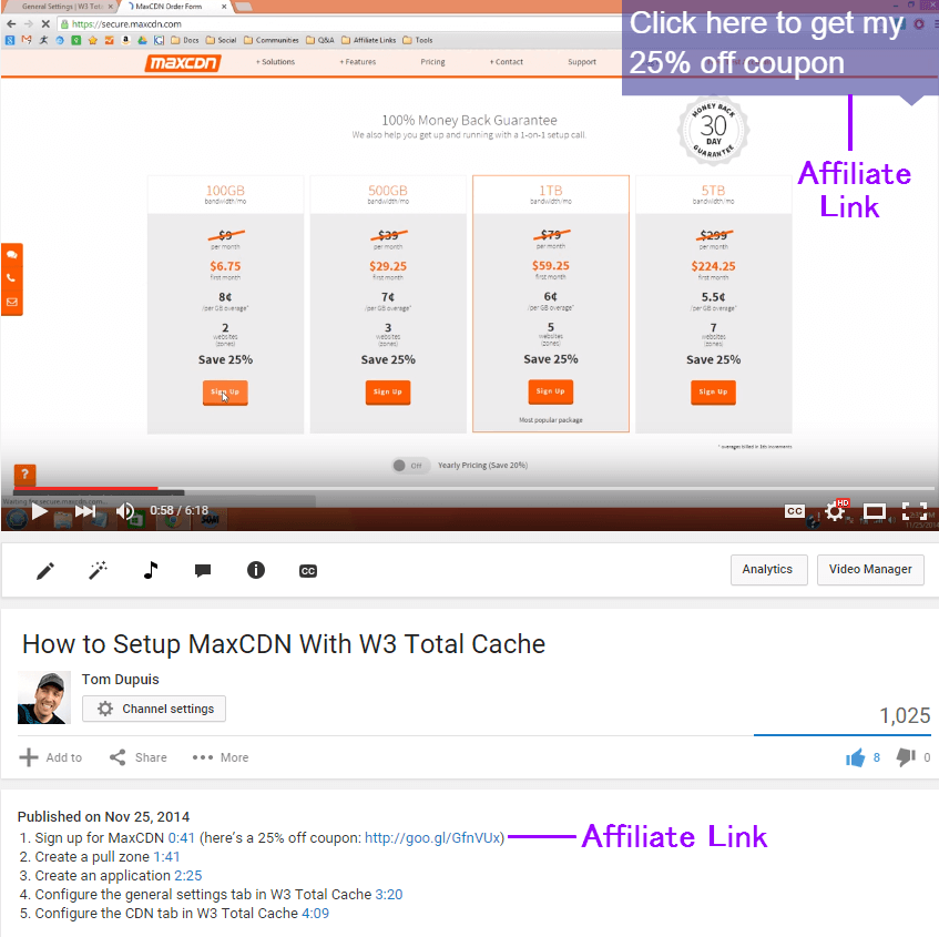How To Monetize YouTube Videos With Affiliate Links (NOT AdSense)
