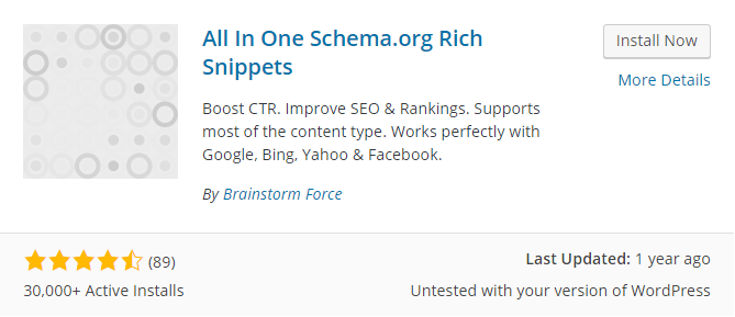 All In One Schema Rich Snippets Installation