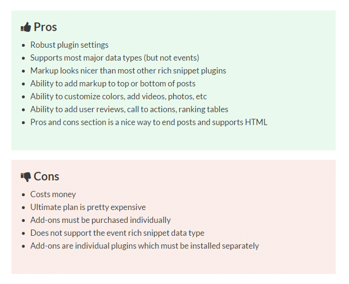 wp-rich-snippets-pros-cons
