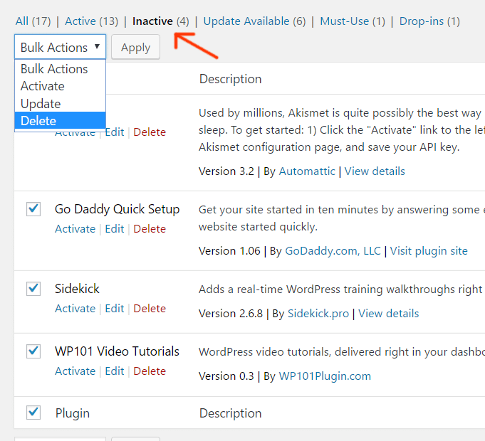 delete-wordpress-plugins