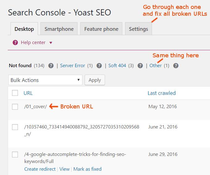 yoast-crawl-errors