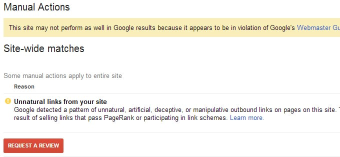 Unnatural Links To Your Site - Google Search Console