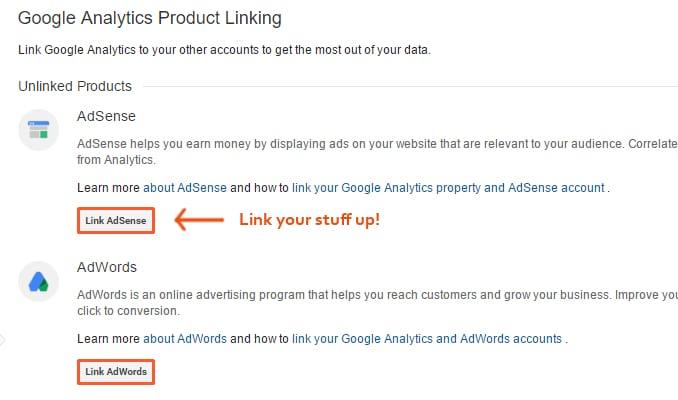 Google-Anaytics-Product-Linking