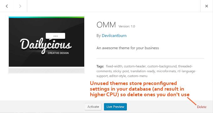 Delete-Unused-WordPress-Themes