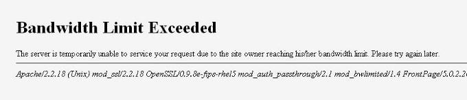 bandwidth exceeded
