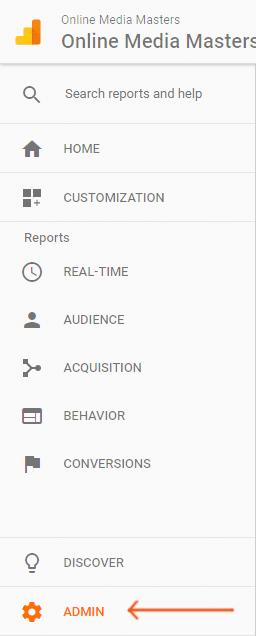 Google-Analytics-Admin-Tab