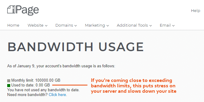 iPage-Bandwidth-Usage