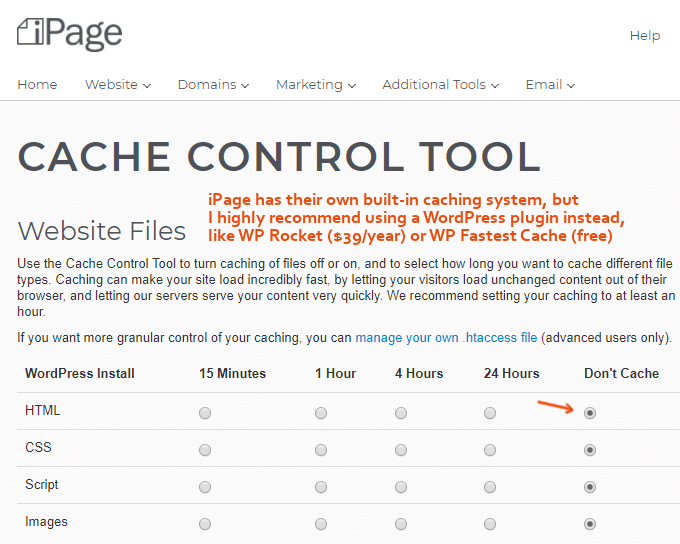 iPage-Web-Cache-Control