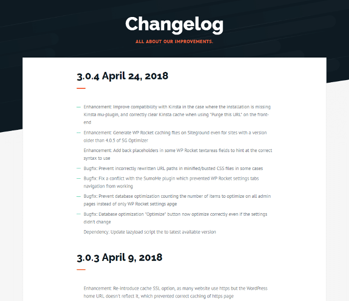 WP-Rocket-Changelog