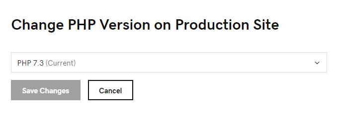 Mettre à jour la version PHP de GoDaddy