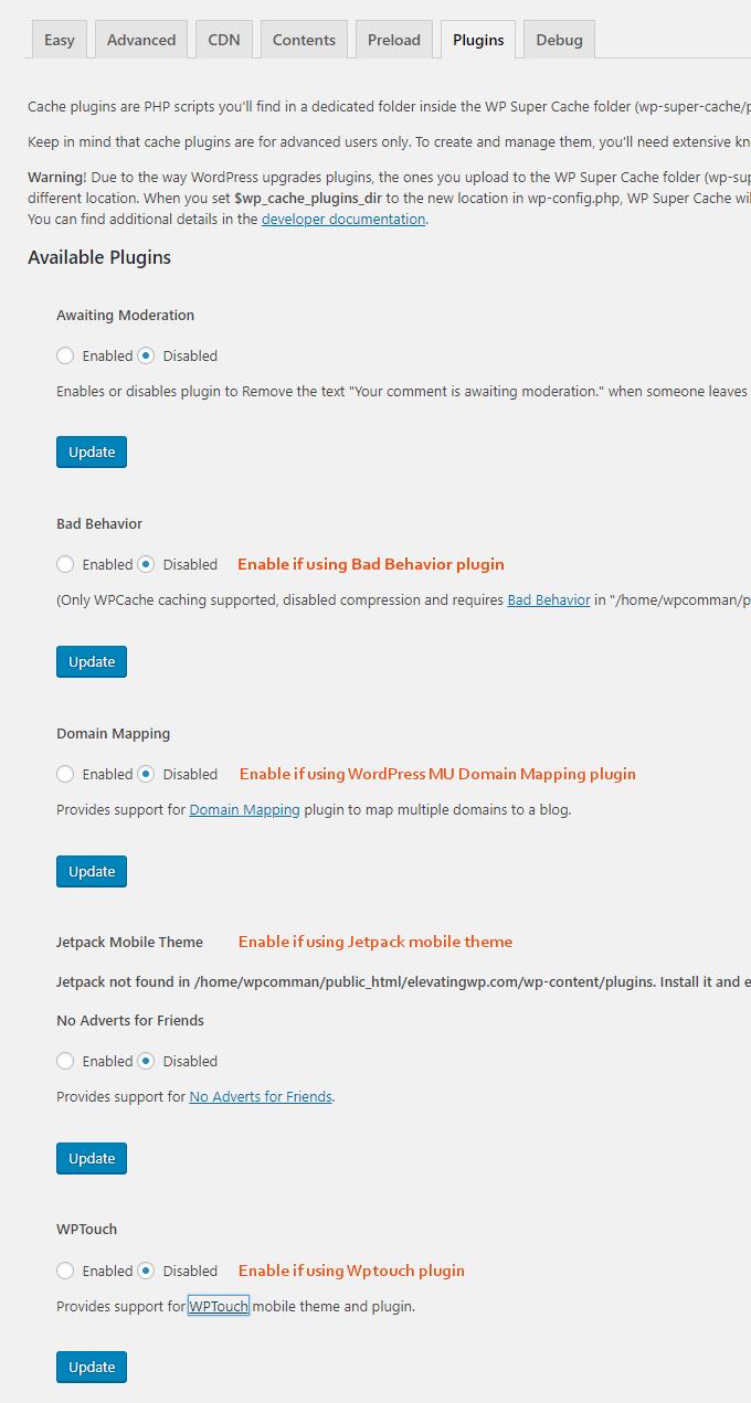 WP-Super-Cache-Plugins-Settings