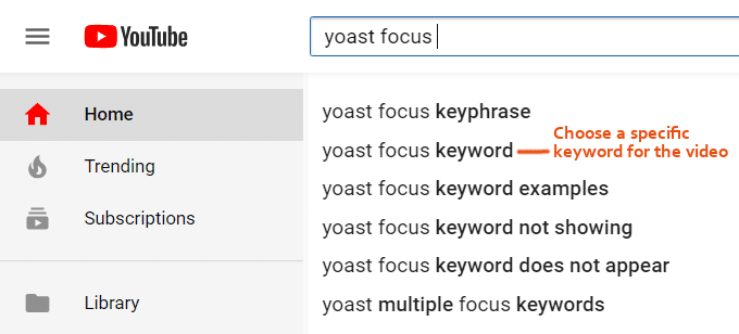 YouTube-Keywords