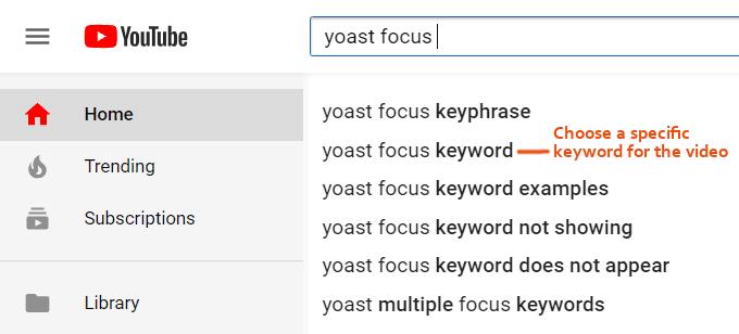 YouTube-Keywords