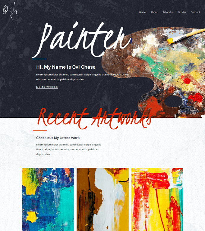 painter - astra template