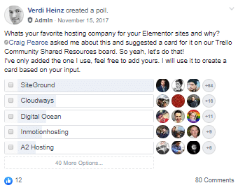 Favorite Hosting For Elementor