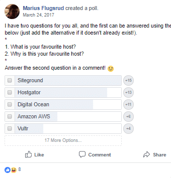 Favorite-Hosting-poll