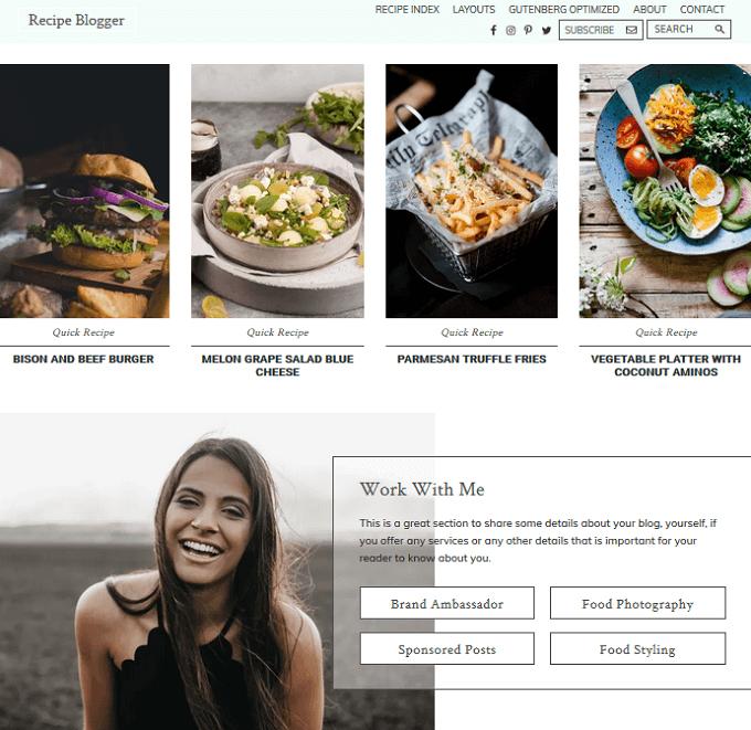 recipe blogger pro