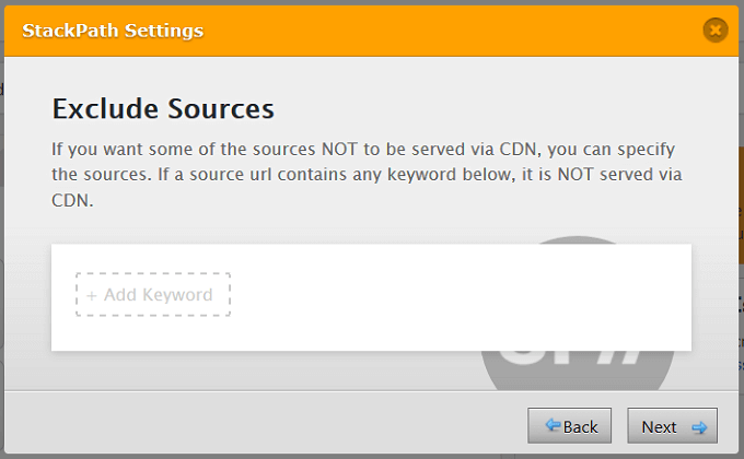 stackpath exclude sources