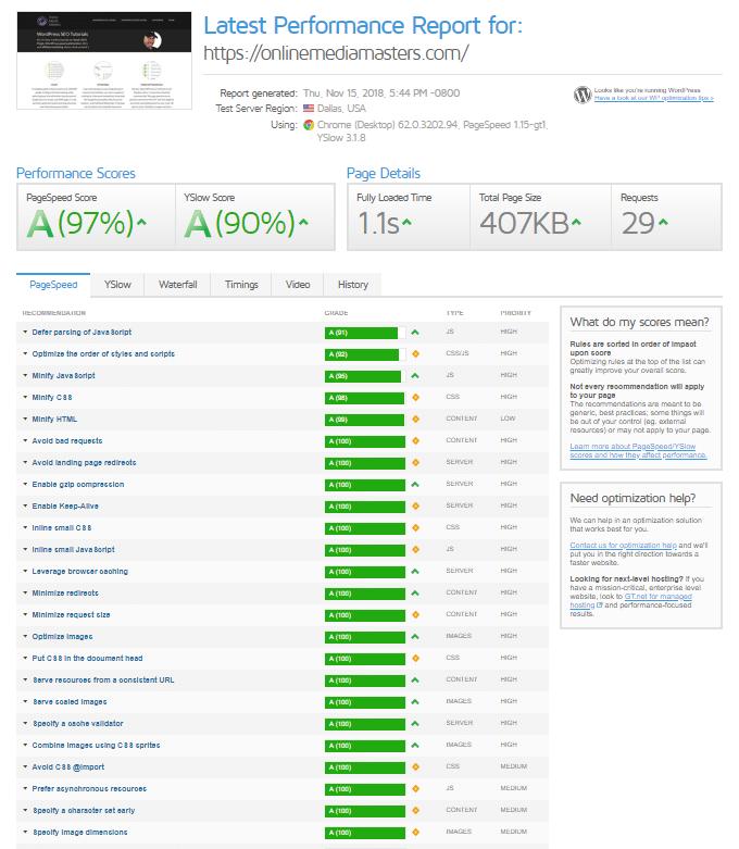 Swift-Performance-GTmetrix-Report