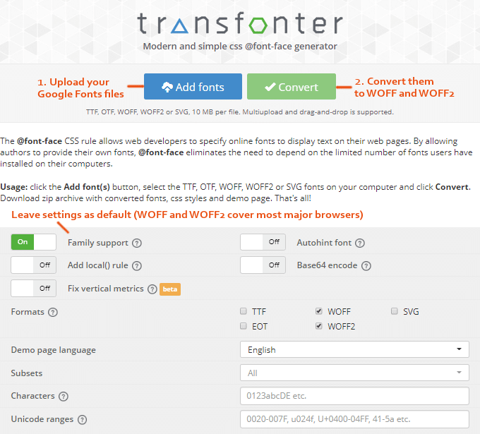 Transfonter-Google-Font-Conversion