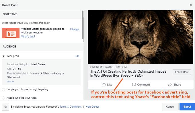 Yoast Facebook Title