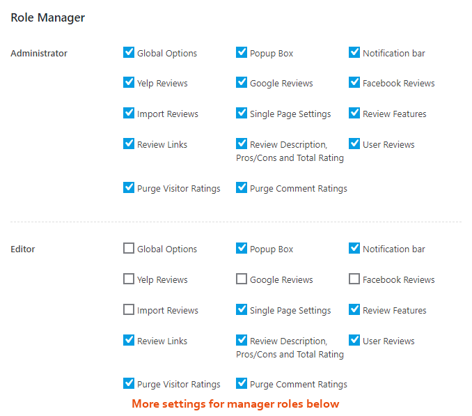 WP Review Role Manager