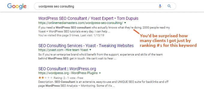 wordpress seo consulting search