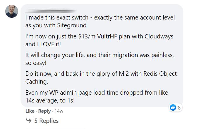 WordPress admin speed on Cloudways