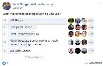 2019 cache plugin poll