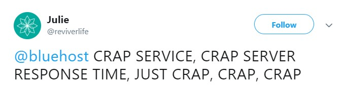 Bluehost Crap Server Response Time