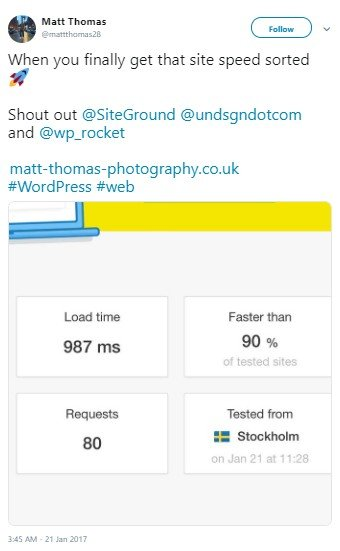 New Pingdom Results On SiteGround