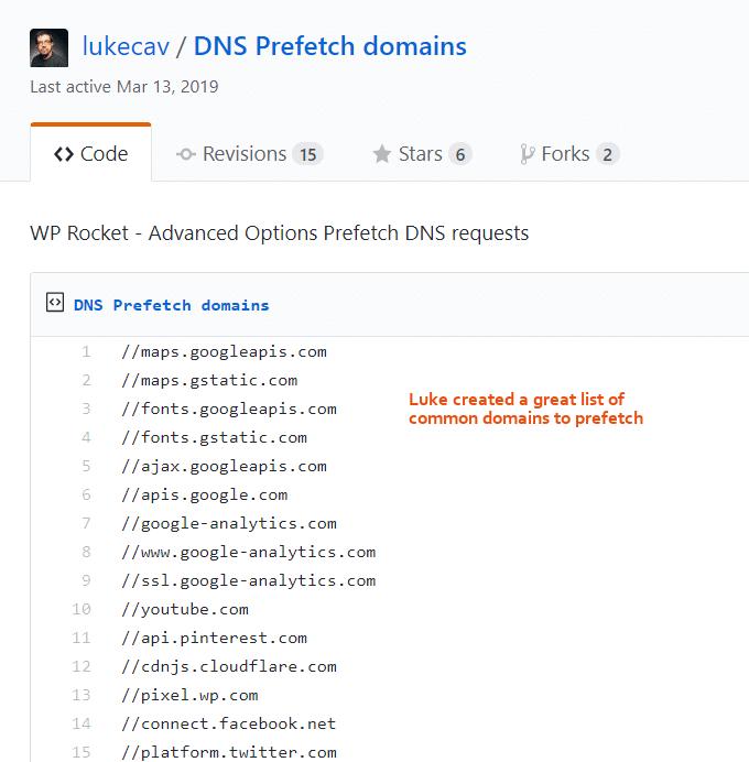 Prefetch-DNS-Requests-List