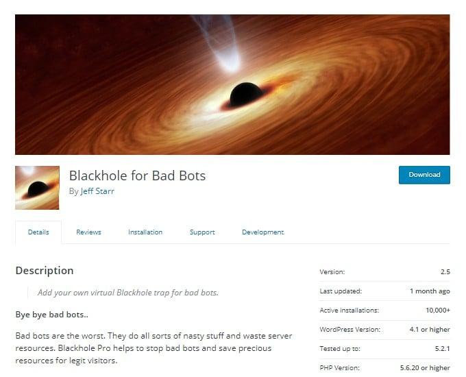 Blackhole for Bad Bots