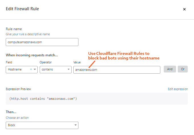 Cloudflare Firewall Rule To Block Bad Bots