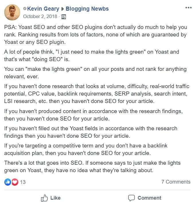 Importance Of Yoast Green Lights