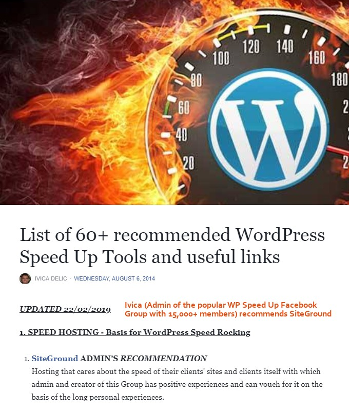 WordPress-Speed-Up Recommended Tools