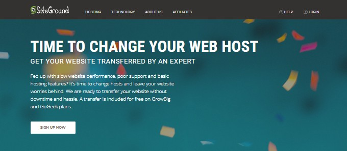 SiteGround Free Website Transfer
