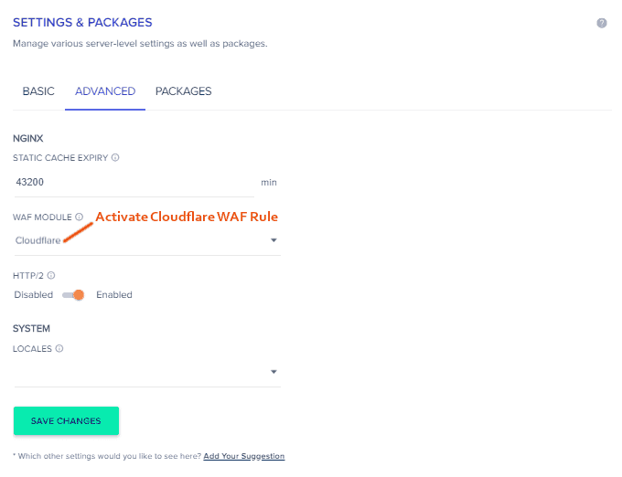 Cloudways Cloudflare WAF Rule
