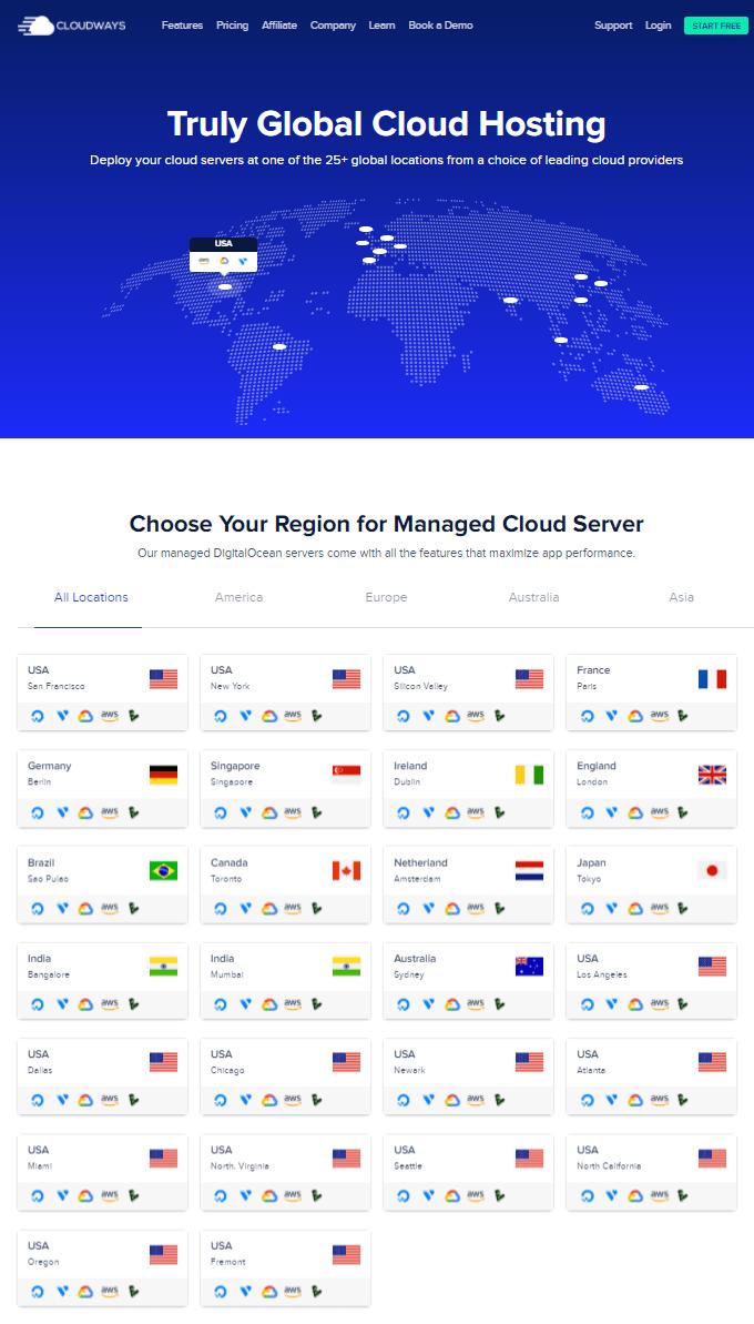 Cloudways Data Centers