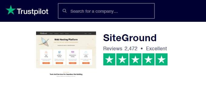 SiteGround Trustpilot Reviews