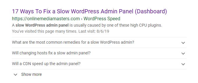 FAQ Google Snippets