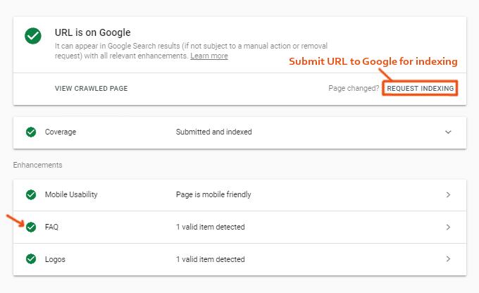 FAQ Request Indexing