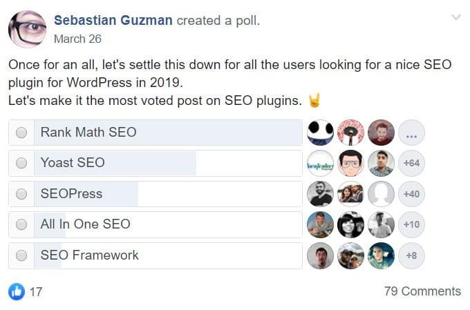 Best SEO Plugins Facebook Poll