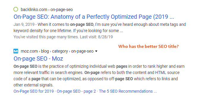 Catchy SEO Titles